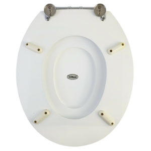 Bath Duck Wc-Ülőke - Családi - Gyermek És Felnőtt Használatra - Cink Zsanérokkal - MDF - Fehér