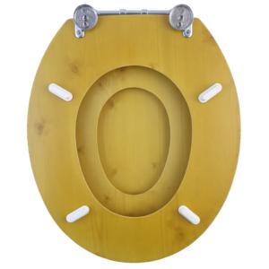 Bath Duck Wc-Ülőke - Családi - Gyermek És Felnőtt Használatra - Cink Zsanérokkal - MDF - Fa Hatású - 4