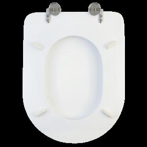 Bath Duck Wc-Ülőke - Mdf - Cink Zsanérokkal - Fehér - A - Ovál