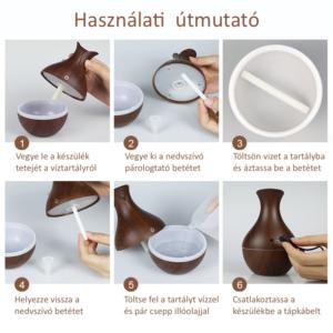 MyLike Aromaterápiás Diffúzor - M - Színváltós - Tulipán - Bronz - 130ml
