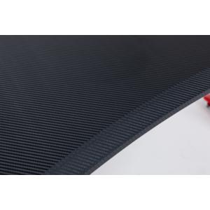 bipiline Gamer Asztal - Karbon Mintás Asztallappal - Piros - Led Világítással
