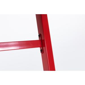 bipiline Gamer Asztal - Karbon Mintás Asztallappal - Piros