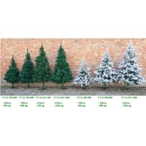 Karácsonyi műfenyő, Ontario 210 cm, termék saját fémállvánnyal