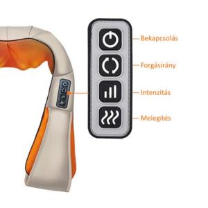 MyLike Nyak, Váll és Testmasszírozó Készülék - Bézs Narancs