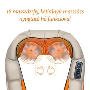 MyLike Nyakmasszírozó-Vállmasszírozó és Testmasszírozó Készülék - Bézs Narancs