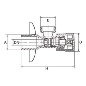 Melscher Kerámia Sarokcsap - Drop AV009-38