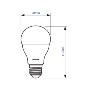 Philips CorePro LED izzó E27 11W 2700K meleg fehér 75W izzó kiváltására