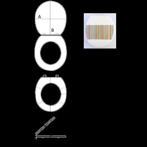 Bath Duck Wc-Ülőke - Mdf - Mintás - Cink Zsanérokkal -  Vonalkód