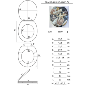Bath Duck 3D Wc-Ülőke - Mdf - Rozsdamentes Acél Zsanérokkal - Kagylók