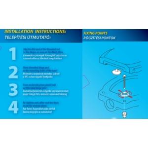 Bath Duck Wc-Ülőke - Duroplaszt - Műanyag Zsanérokkal - Fekete
