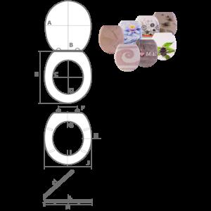 Bath Duck Wc-Ülőke - Duroplaszt - Rozsdamentes Acél Zsanérokkal - Mozaik
