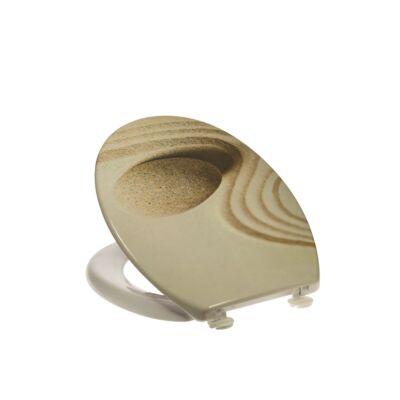 Bath Duck Wc-Ülőke - Duroplaszt - Műanyag Zsanérokkal - Homok - Kő
