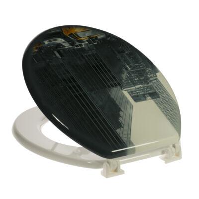 Bath Duck Wc-Ülőke - Mdf - Mintás - Műanyag Zsanérokkal - 4 New York