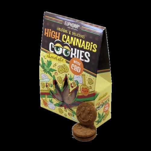Euphoria High Cannabis Chocolate Cookies 100g (Keksz)