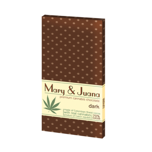 Mary&Juan Cannabis Chocolate Dark 80g (Étcsokoládé)