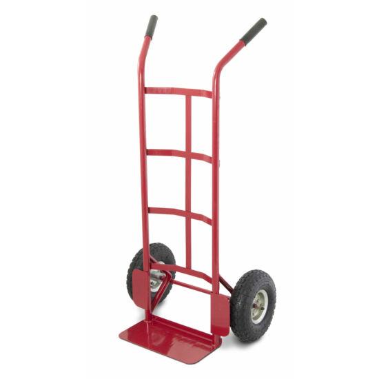 Molnárkocsi - 250kg, piros, felfújható kerekek