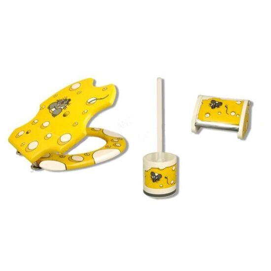 Bath Duck Wc-Ülőke - Wc-Kefe Tartó - Wc-Papír Tartó - Egér Mintás