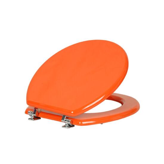 Wc-Ülőke - Mdf - Cink Zsanérokkal - Narancs