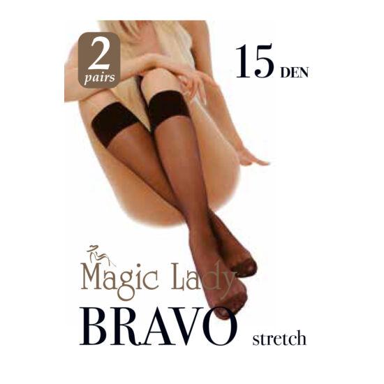 Magic Lady Térdharisnya Bravo 15/2 Pár/Black