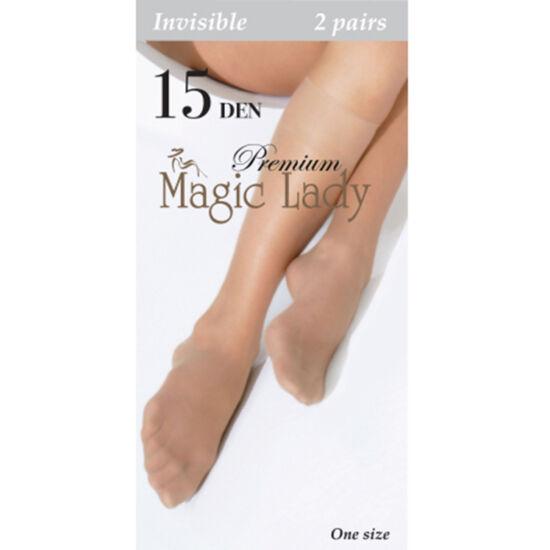 Magic Lady Térdharisnya Invizible 15/2 Pár/Ambra