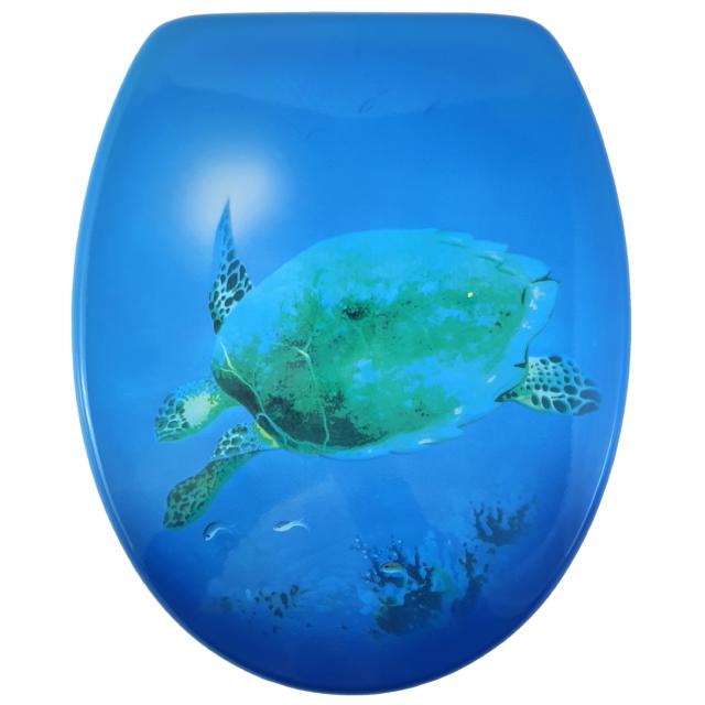 Bath Duck Wc-ülőke - Mdf - Mintás - Cink Zsanérokkal - Teknős